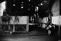 JR alley (F_blue) Tags: tokyo fuji nikonf  5012 haijima  omeline neopan1600superpresto fblue2008