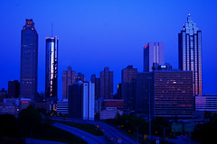Atlanta Skyline Blue Morning (RMac_Photography) Tags: blue atlanta urban skyline ga d50 georgia geotagged nikon cityscape atl rmac