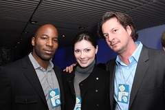 Donnovan Andrews, Elspeth Rountree and Neil Vogel at the Webby People's Voice Voting Party (The Webby Awards) Tags: neil vogel webbys elspethrountree donnovanandrews