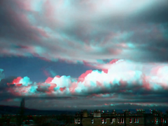 Cloudscape Merchiston 2 anaglyph (Dan (aka firrs)) Tags: sky clouds speed timelapse video stereoscopic 3d fast anaglyph stereo cloudscape redcyan longphoto hyperstereo
