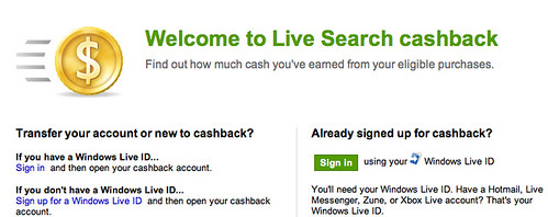 Live Search cashback 6
