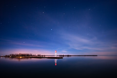 IMGP-4430 (Bob West) Tags: longexposure nightphotography lighthouse ontario night lakeerie greatlakes nightshots startrails lightroom sigma1020mm erieau southwestontario k10d eastlighthouseerieau