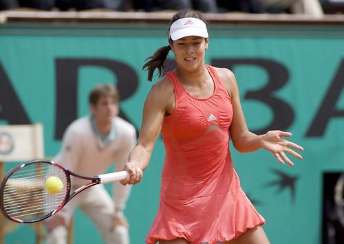 Ana Ivanovic hits forehand shot