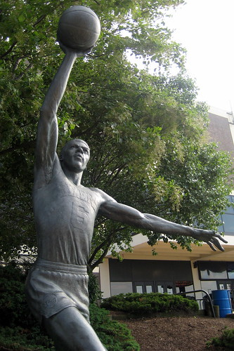 This statue of Julius Erving,