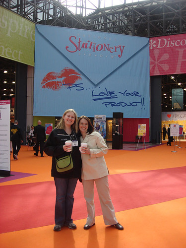 In Front of the National Stationery Show