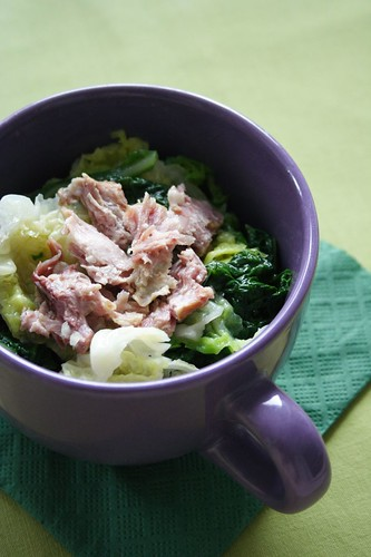 Savoy Cabbage with Smoked Meat