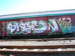 Skrew (jaroh) Tags: train bench graffiti utah msk skrew freight