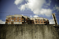 no way out (Sakuto) Tags: wood blue sky cloud building wall clouds factory russia timber belarus comunism aplusphoto
