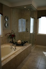 Model Home 4, Master Bedroom Bathroom  2/ (Jim U) Tags: interior modelhome stouffville sony100 minolta20mm28 mattamyhomes