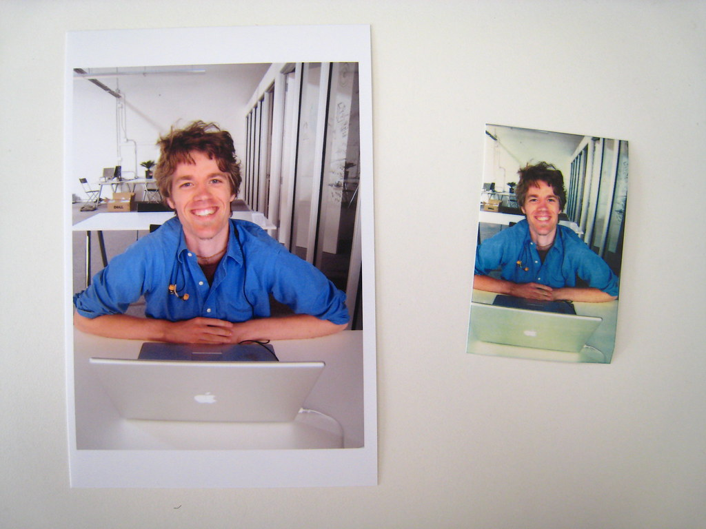 Sample prints - Canon MP610 (left), Polaroid PoGo (right)