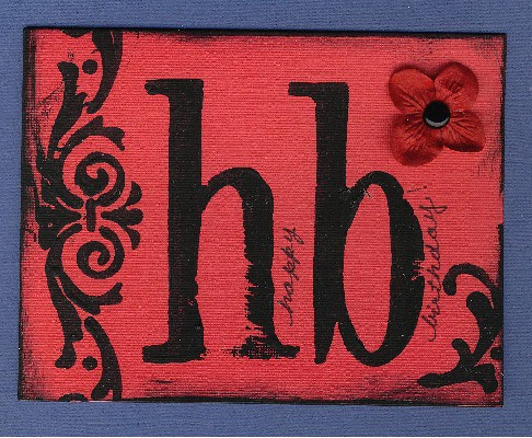 Red HB card