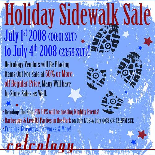Retrology Sidewalk Sale - July 1-4/08