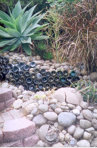 Wine and Water Bottle Retaining wall
