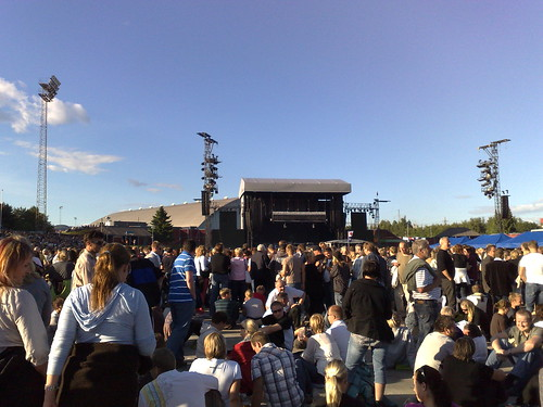 Springsteen 2008 - Crowds gathering
