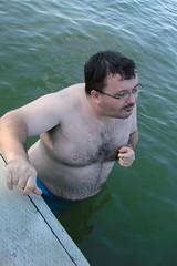 I Made It! (canadianlookin) Tags: water swimming fun cabin manitoba cousin lakemanitoba rorketon