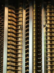 Columns of gears in the difference engine