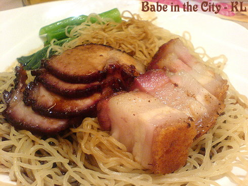 CI - char siu and siew yuk noodles