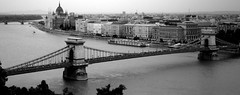 Budapest in black & white (fede_gen88) Tags: bridge blackandwhite bw panorama blackwhite europe hungary budapest parliament getty duna 169 danube gettyimages orszghz magyarorszg szchenyilnchd szchenyichainbridge outstandingshots aplusphoto