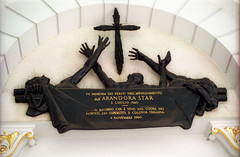 Memorial to the Italian internees who drowned when the SS Arandora Star was torpedoed in 1940.