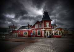 Eatery ... (asmundur) Tags: red restaurant iceland bash ominous fake kitsch anonymous fakephoto bashing hdr comments steakhouse akureyri darksky digg 3xp diggcom bautinn