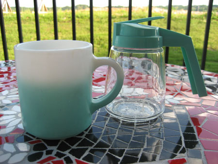 Aqua Hazel Atlas Mug & Federal Pitcher