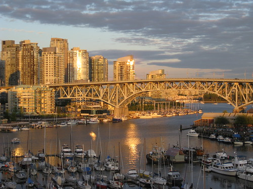 Granville Bridge at sunset