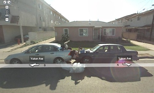 Yup, that's pavement from Google Maps Funny Street View (Images) I have no