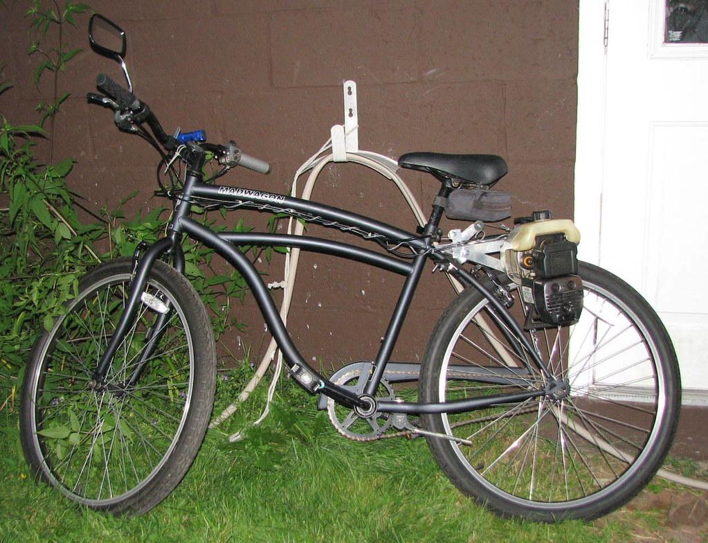 The MadWagon, finished (lessherger) Tags: bike bicycle weed engine motor motorized wacker