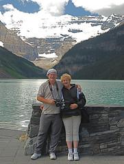 Lake Louise, Chuck and Terry 2008 (goobersmyn) Tags: park national jaspernationalpark yoho banffnationalpark peytolake morainelake bowlakeandglacier