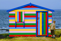 Beach Hut 32 - Hopeman - Scotland (Marco Boekestijn) Tags: ocean road trip travel boy sea house holiday cute skye tourism beach nature water netherlands colors grass landscape photography scotland wooden highlands nice nikon colorful paint colours little dunes reis delft tourist hut marco beachhut lovely rondreis d80 hopemanbeach boekestijn schotlang