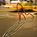 """The Ladies' Mile"" bike rack designed by David Byrne. New York, NY 2008."