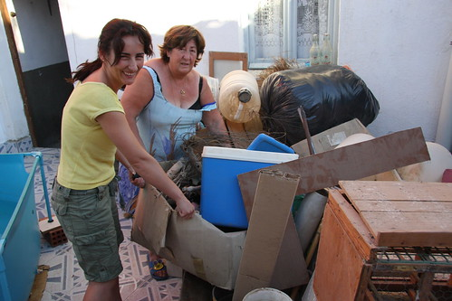 Marga and Marce moving junk