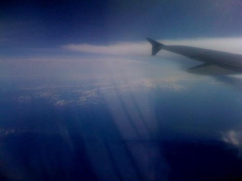 Window of the plane to Phoenix