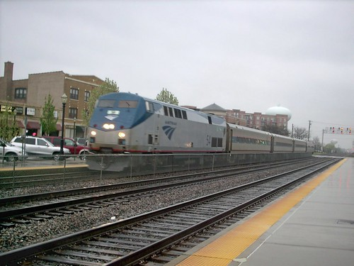The westbound Amtrak Illinois Zephyr arriving in west suburban La Grange Illinois. by Eddie from Chicago