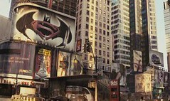 Batman vs. Superman Logo (extrastuff15) Tags: new york city building dark movie square logo justice am smith superman will batman joker knight times legend leauge