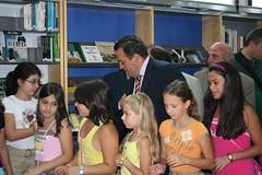 5/9/08-Επίσκεψη του Υπουργού Παιδείαςστη Δ.Κ.Βιβλιοθήκη Βέροιας.