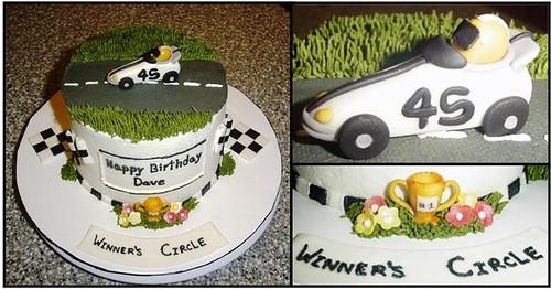 Dave's Race Car Cake