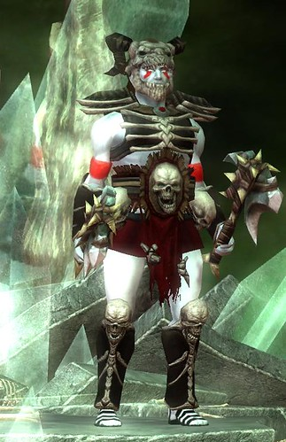 male character in armour and the Corpse skin