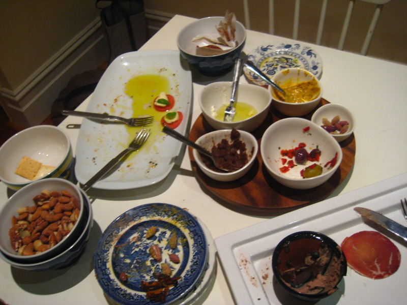 Remnants of antipasto