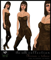 [MG fashion] The Silk Collection - Miriam (tobaco)