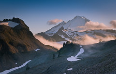 Cloudy Baker (Mike Hornblade) Tags: sunset washington pacificnorthwest mtbaker alpenglow northcascades ptarmaginridge