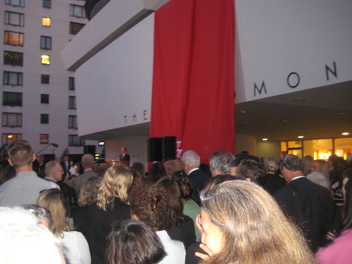Mayor Bloomberg speaks before the ribbon cutting.