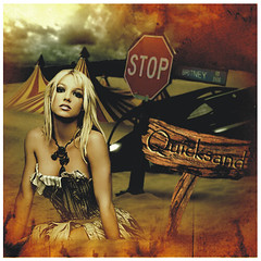 BritneySpears [Quicksand] ( Omar Rodriguez V.) Tags: beautiful car dark artwork sand darkness spears circus album popart 2008 britney 2009 britneyspears quicksand womanizer slave4britney