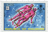 Maldive-Islands Gemini Stamp