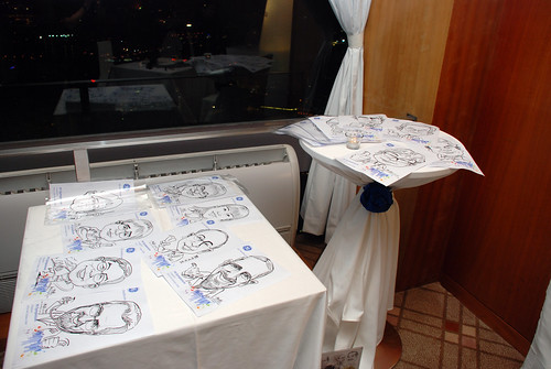 Caricature live sketching for GE Healthcare MI Symposium a