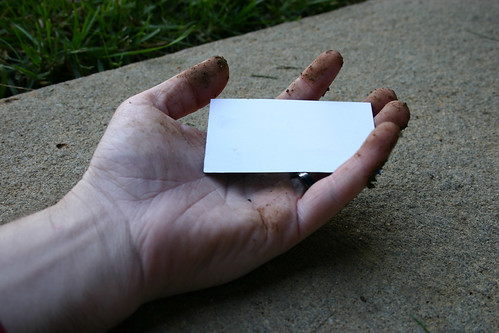 Dirty Business Card Hand