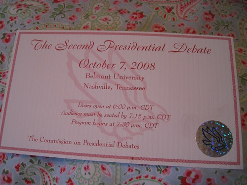 Debate 08 Ticket