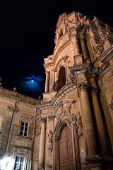 eclipsed (fazen) Tags: blue italy moon building church italia blu bynight luna chiesa sicily baroque sicilia barocco ragusa ibla sangiuseppe ragusaibla