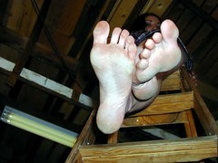 sexy ladder feet (RoughToughSoleMan) Tags: feet female fetish foot heels rough tough soles cracked calloused