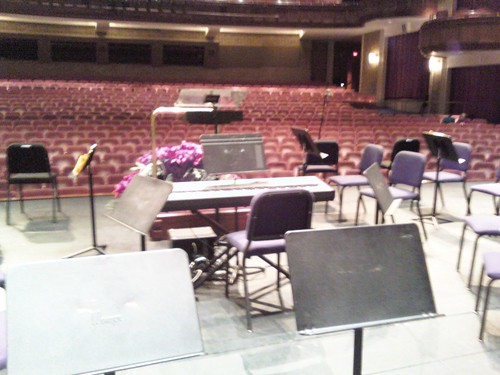 Peace Center Stage with my keyboard